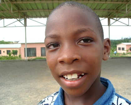 Jean-Jacques, accueilli au village d'enfants SOS de Douala