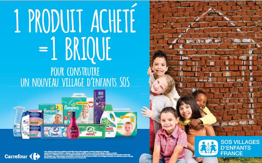 1 produit acheté = 1 brique pour un nouveau village d'enfants SOS